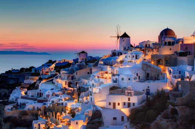 oia santorini hdr sunset(4)